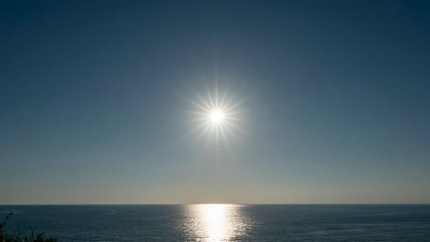 Amazing sunset or sunrise over tropical sea Premium Photo