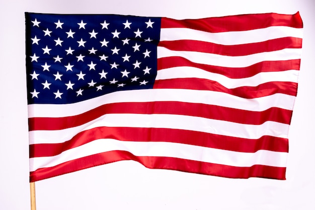 America flag background for memorial day or independence day. Premium Photo