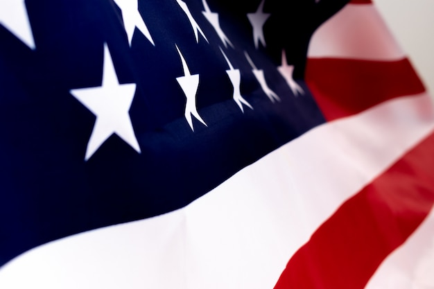 America flag for memorial day or independence day concept. Premium Photo