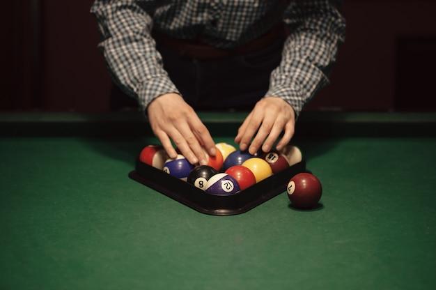 American billiard poule. Premium Photo