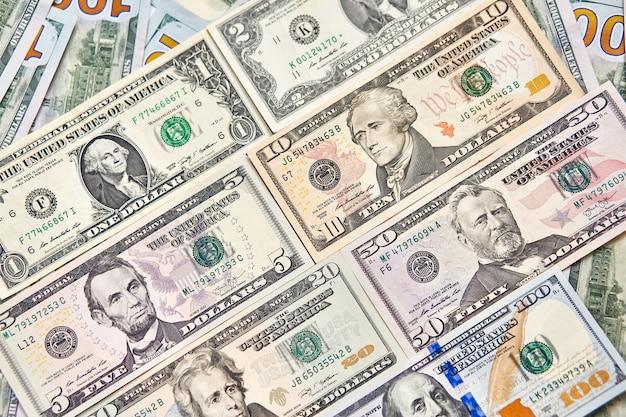 American bills of different types Premium Photo