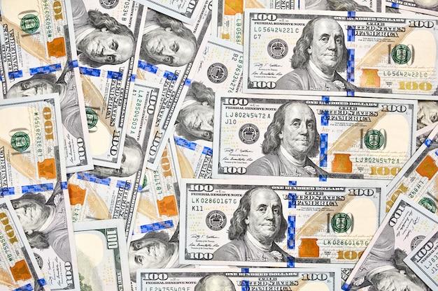 American bills of a hundred dollars Premium Photo