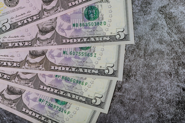 American dollar money in background for business Premium Photo