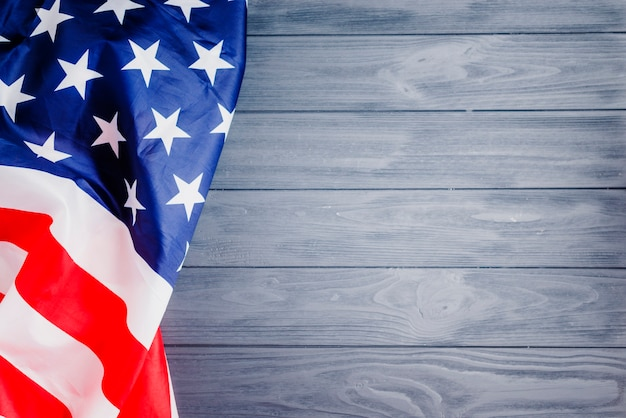 e0a5e751d2f2 American flag background with copyspace on right Photo