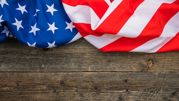 American flag background with copyspace Free Photo