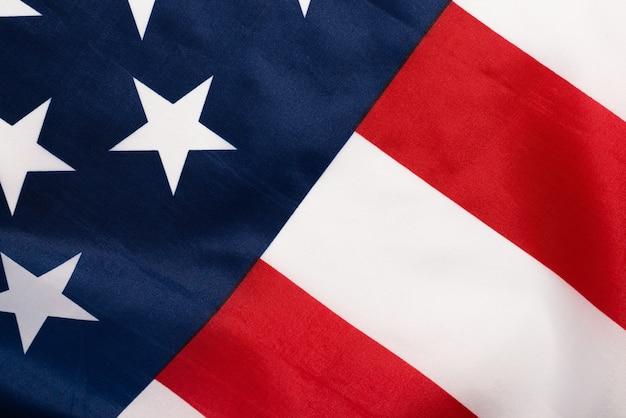 Американский флаг крупным планом Premium Фотографии