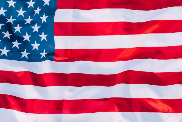 American flag on independence day Free Photo