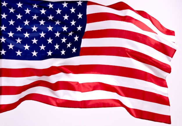American flag for memorial day or 4th of july Premium Photo