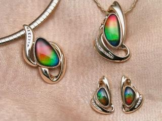 Ammolite jewellery Free Photo