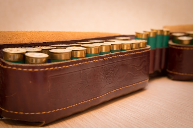 Ammunition belt Premium Photo