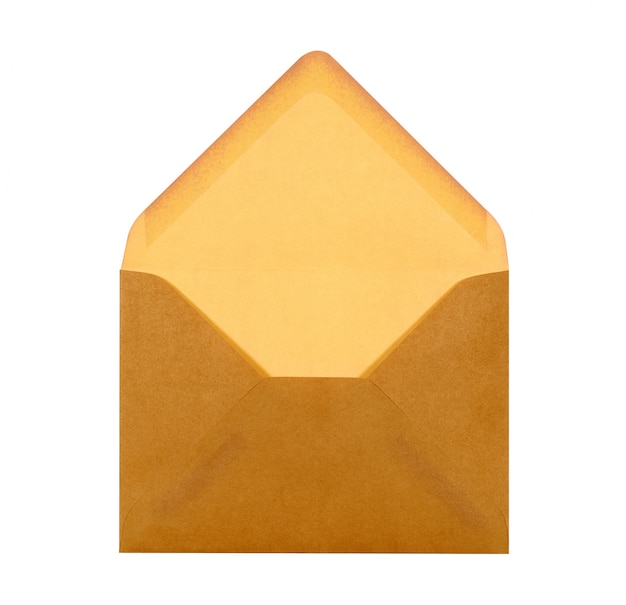 An open brown envelope Photo | Free Download