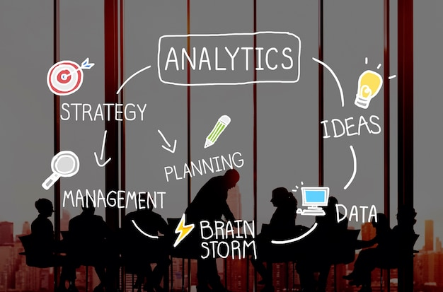 Analytics comparison information networking concept Free Photo