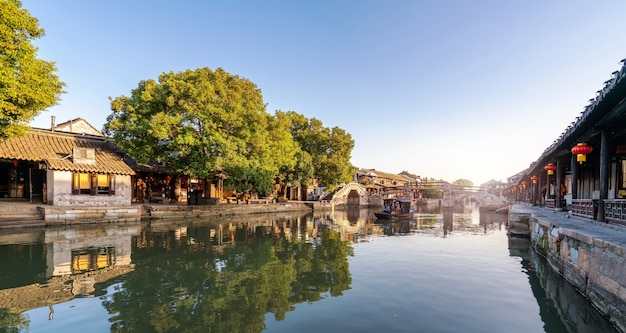 Ancient houses in xitang ancient town, zhejiang Premium Photo