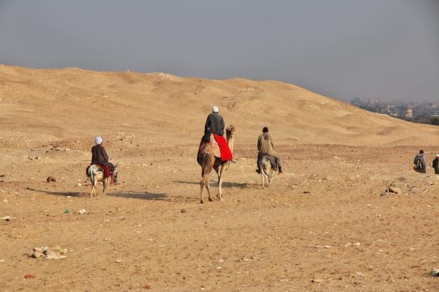 Древняя пирамида саккара в пустыне египта Premium Фотографии
