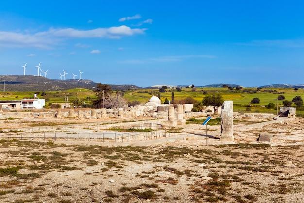 Древние руины в пафосе, кипр Premium Фотографии