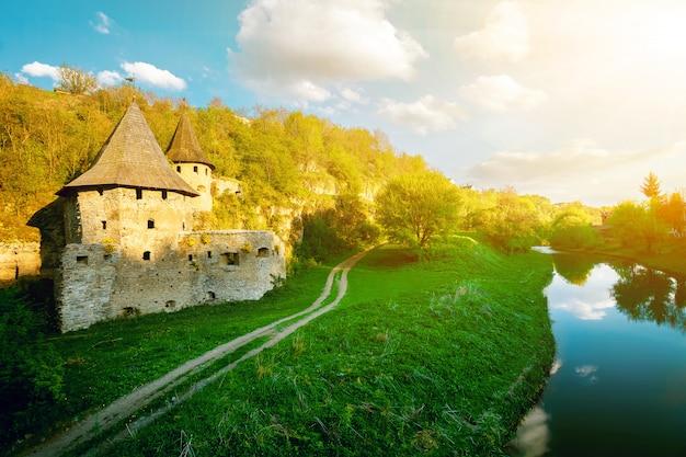 Ancient stone castle. Premium Photo