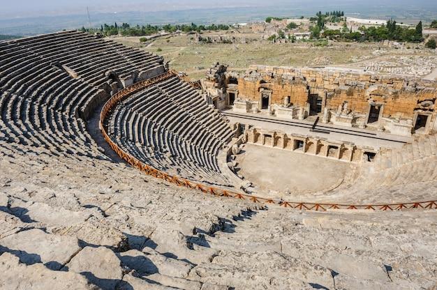 Ancient theater in hierapolis Premium Photo