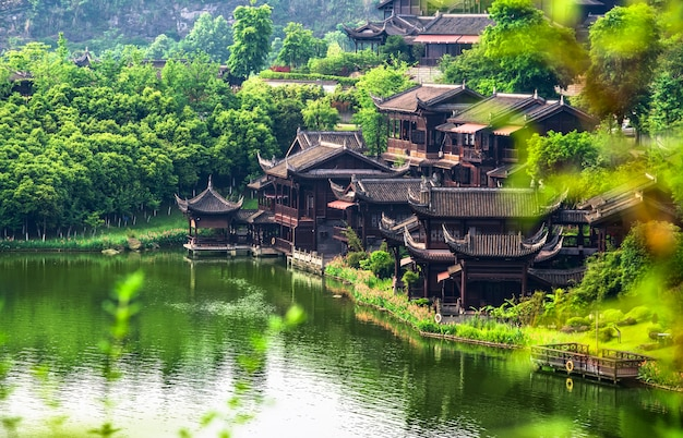 Ancient town lake in China Free Photo