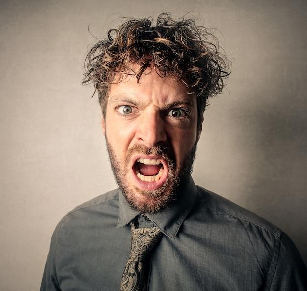 Angry aggressive man Photo   Premium Download