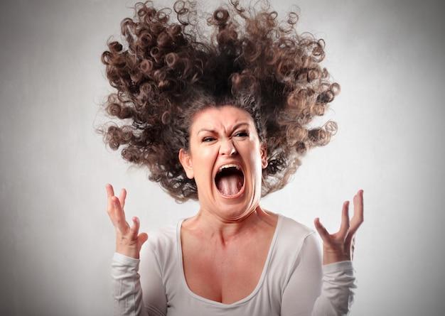 Angry crazy woman Premium Photo