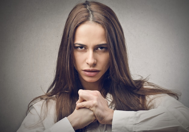 Angry strong woman Premium Photo
