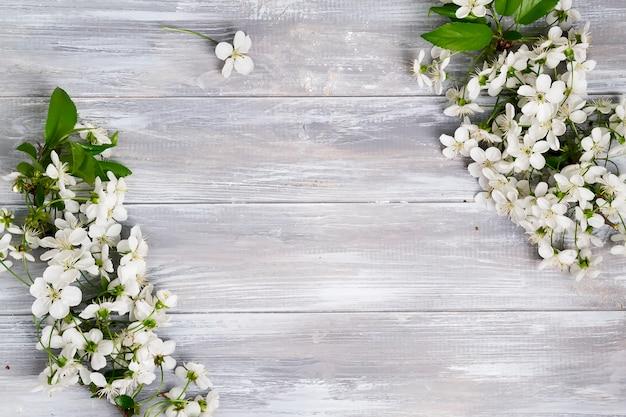 Angular frame of flowers Premium Photo