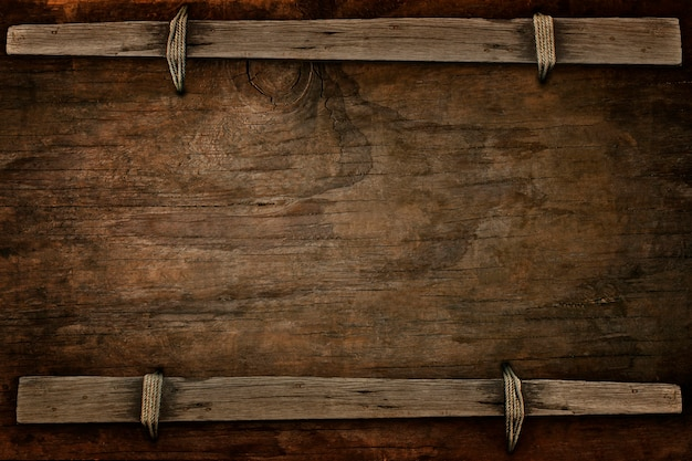 Announcement wood with free space Premium Photo
