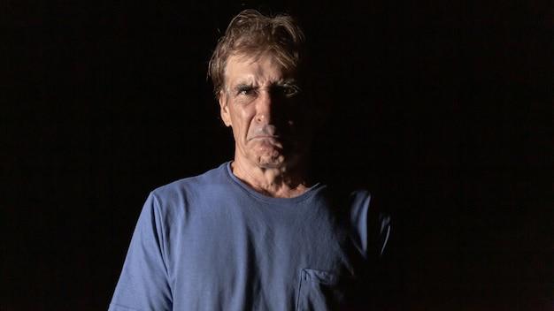 Annoyed man. very sad. Premium Photo