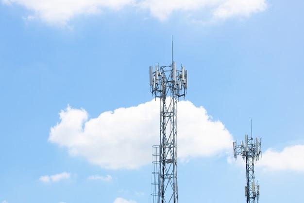 Antenna boardcast signal telecommunication Premium Photo