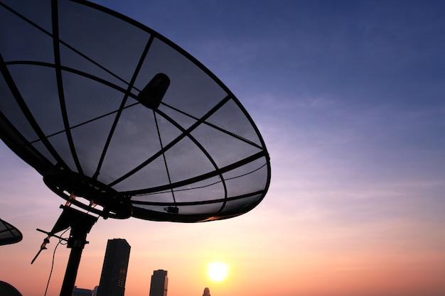Antenna communication satellite dish Premium Photo