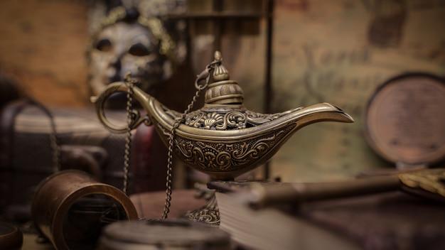 Antique aladdin magic lantern Premium Photo