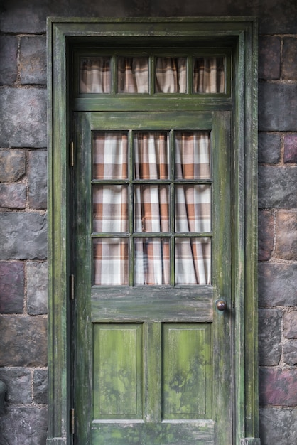Antique door retro style  . Free Photo