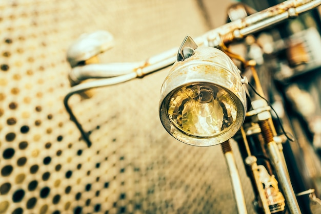Antique focus of a bicycle Free Photo