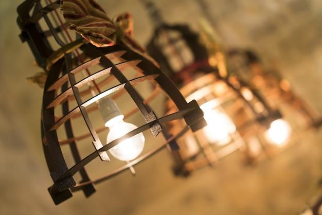 Antique iron lamps Premium Photo