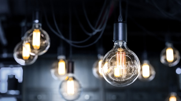 Antique style light bulbs Premium Photo