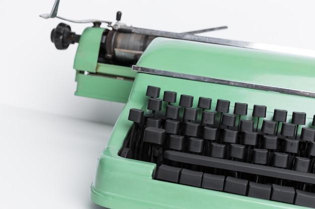 Antique typewriter. vintage typewriter machine Premium Photo