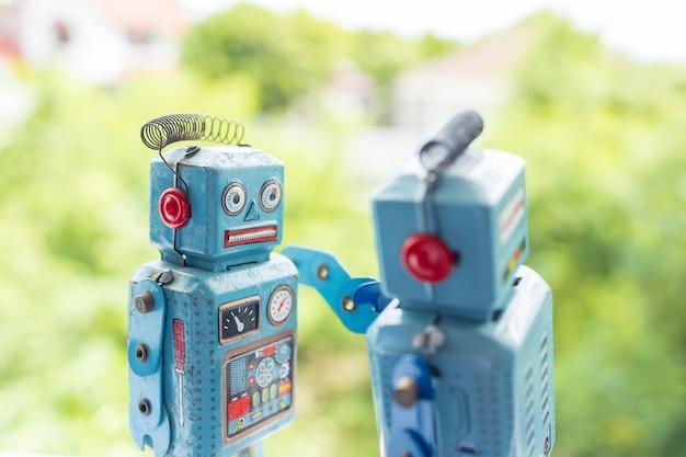 Antique vintage retro robot tin toy Premium Photo
