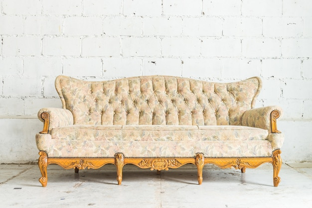 Antique wooden sofa Free Photo