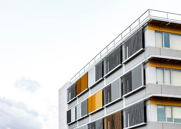 복사 공간 도시에있는 아파트 건물 무료 사진