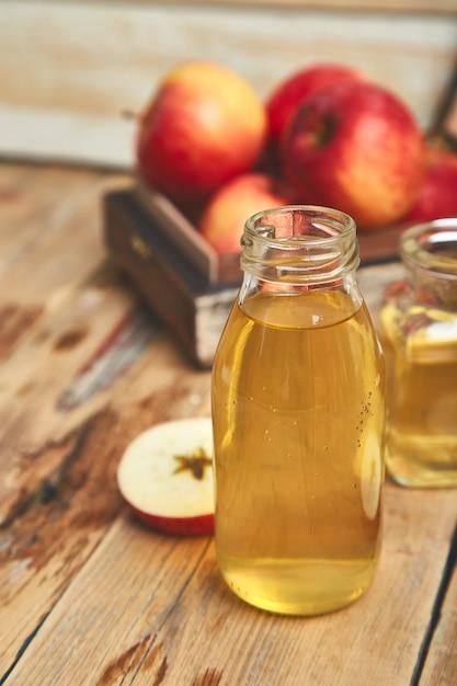 Apple cider vinegar. Premium Photo