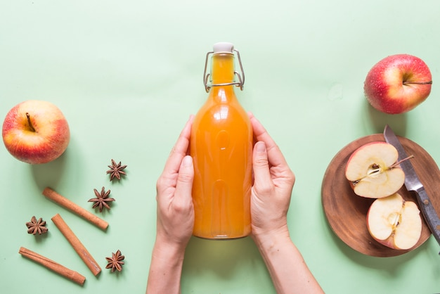 Apple cider vinegar Premium Photo