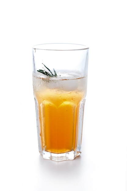 Apple or grape clarified juice in glass Premium Photo