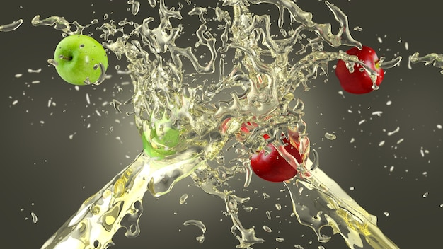 apple juice splash background photo free download