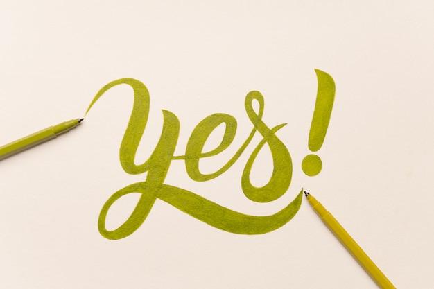 Утверждение мотивационной фразы от руки с зеленым маркером Бесплатные Фотографии