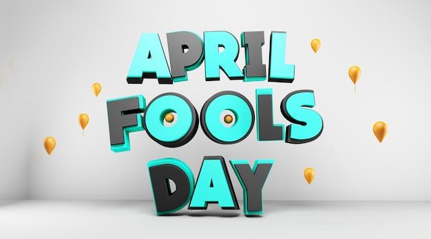 April fools day 3d design Premium Photo