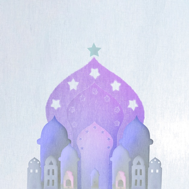 Arabic buildings cut out of paper Photo | Free Download
