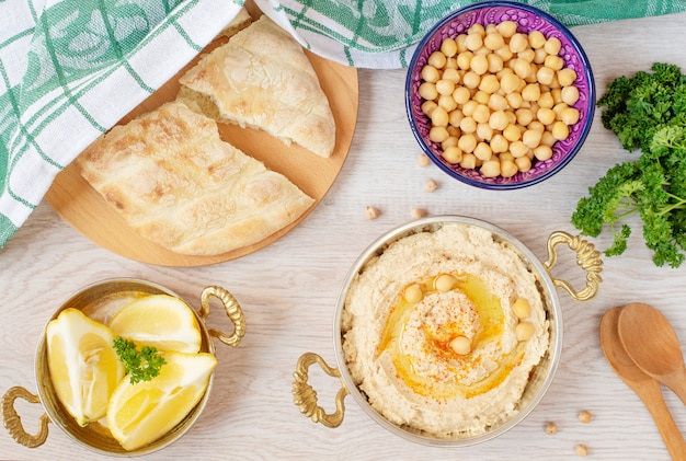 Arabic food table Premium Photo