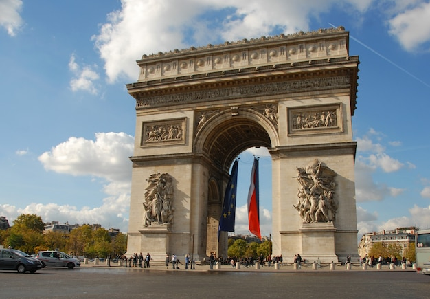凱旋門、パリ Premium写真