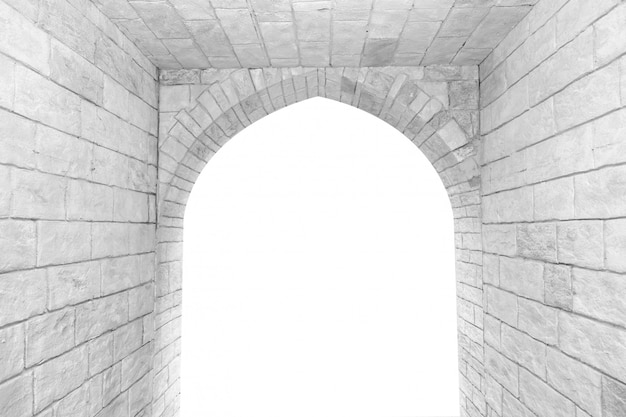 Arch in the brick wall Premium Photo