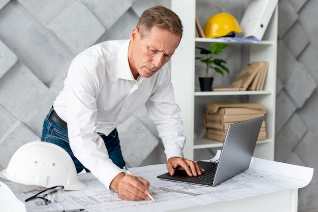 Architect doing a new project Free Photo